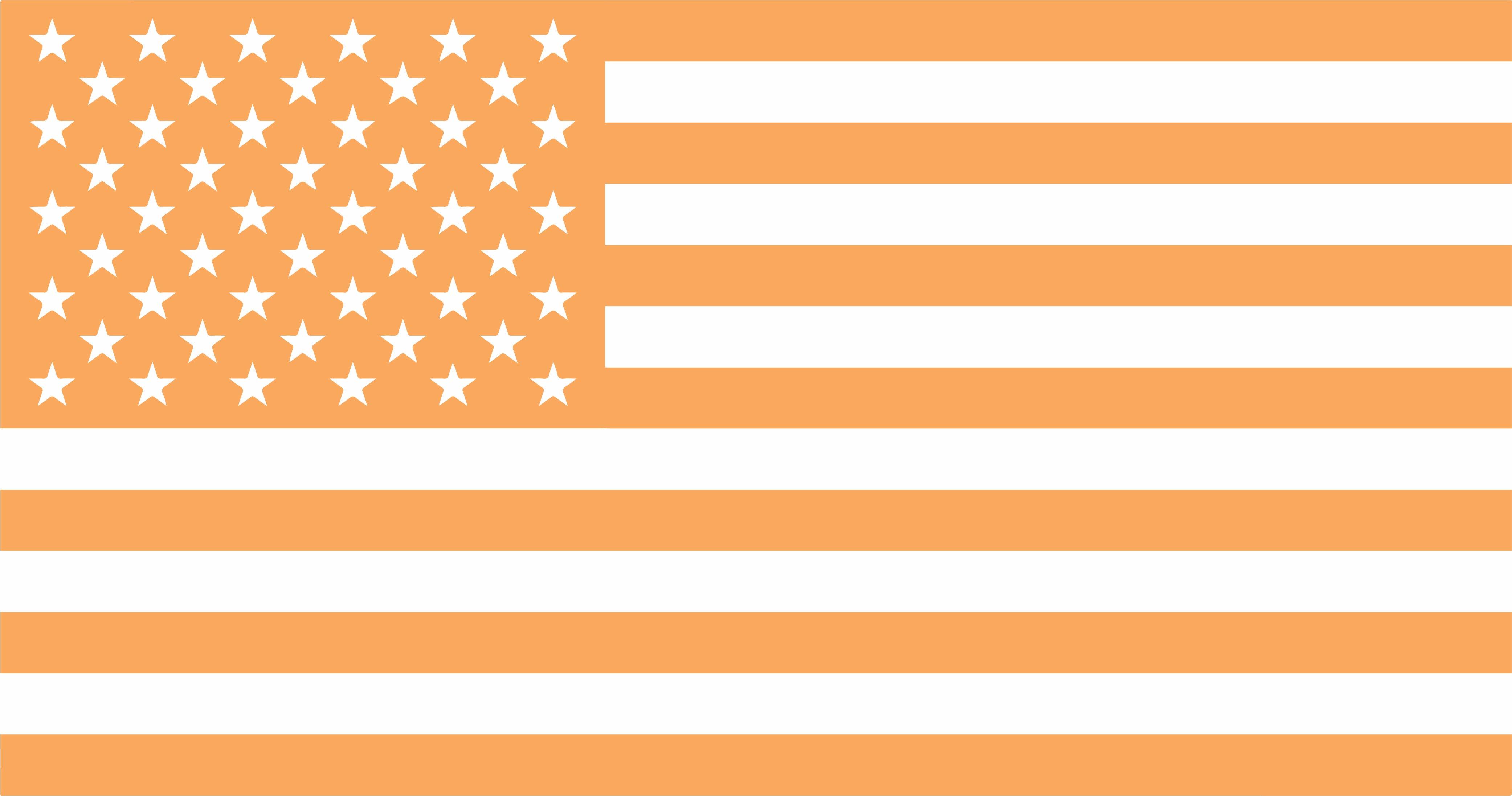 US Flag Orange Icon