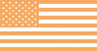 US Flag Orange Icon